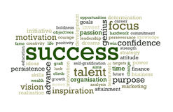 Palabras del éxito stock de ilustración