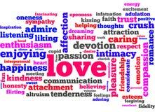 Palabras del amor Fotos de archivo libres de regalías