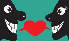 Palabras del amor ilustración del vector