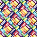 Palabras del arco iris Imágenes de archivo libres de regalías