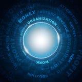 Palabras del círculo y del negocio Imagen de archivo