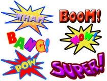 Palabras del cómic Imagen de archivo libre de regalías