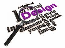 Palabras del diseño ilustración del vector