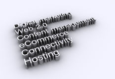 Palabras del Internet - Web 2.0 Stock de ilustración
