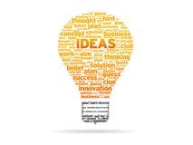 Palabras - ideas Fotografía de archivo libre de regalías