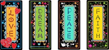 Palabras inspiradas Imágenes de archivo libres de regalías