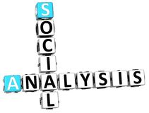palabras legales del cubo del crucigrama del análisis social 3D stock de ilustración