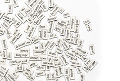 Palabras magnéticas clasificadas imágenes de archivo libres de regalías