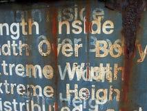 Palabras oxidadas Foto de archivo libre de regalías