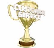 Palabras premiadas del personal del premio del servicio de atención al cliente mejores stock de ilustración