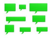 Palabras sociales de la burbuja de la charla de los medios Foto de archivo