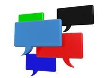 Palabras sociales de la burbuja de la charla de los medios Foto de archivo libre de regalías
