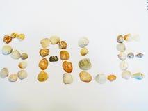 Palabras (venta) Foto de archivo