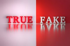 Palabras - verdades y falsas libre illustration