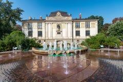 Palac Sztuki, Palace of Art in Plac Szczepanski - Krakow, Poland.  Royalty Free Stock Images