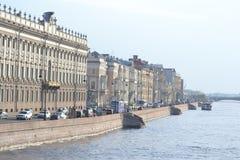 Palaca Embankment of Neva River Royalty Free Stock Photo