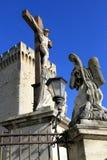 Palace教皇在阿维尼翁,法国 免版税库存照片