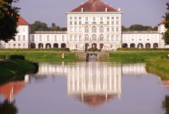 Palace. The front view of the Nymphenburg palace in Munich in Germany Stock Images
