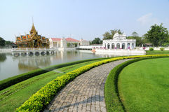 Palace. A palace for the King of Thailand,Pangpaint Palace Royalty Free Stock Photos