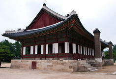 The palace. The classical palece in Korea Royalty Free Stock Photo