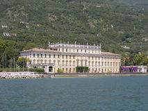 Palace. On the borders of the Garda lake Stock Photos