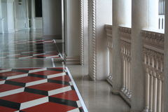 Palace. Columns and a marble floor in a palatial setting Stock Images