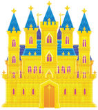 Palace. Isolated clip-art and children's illustration for yours design, postcard, album, cover, scrapbook, etc Stock Images