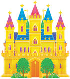 Palace. Isolated clip-art and children's illustration for yours design, postcard, album, cover, scrapbook, etc