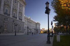 Palace. King palace (madrid Stock Photography