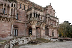 Palace. Gothic palace very decorated old and historic in Comillas in Cantabria stock images