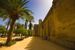 Alcazar de los Reyes Cristianos en het landschap van Cordoba, Sp Stock Photo