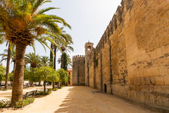The palace of the Alcazar of the Christian Monarchs, Alcazar de Royalty Free Stock Images