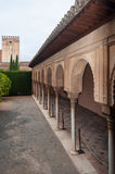 Palace of the Alhambra in Granada. Architectural details of the interior of the Alhambra in Granada, Spain Royalty Free Stock Photos