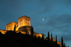 Palace of the Alhambra in Granada Royalty Free Stock Photography