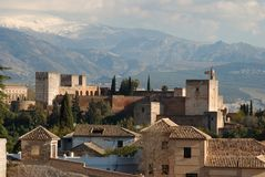 Palace of Alhambra, Granada, Spain. Royalty Free Stock Photo
