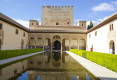 Palace of the alhambra,Granada Stock Photography