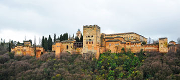 The palace of Alhambra in Granada, Spain Royalty Free Stock Images