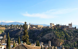 The palace of Alhambra in Granada, Spain Stock Images