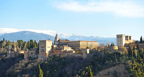 The palace of Alhambra in Granada, Spain Stock Image