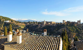 The palace of Alhambra in Granada, Spain Stock Photography