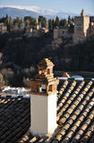 The palace of Alhambra in Granada, Spain Royalty Free Stock Photography