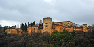 The palace of Alhambra in Granada, Spain Stock Photo
