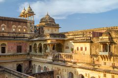 Palace of the Amber Fort near Jaipur, India Royalty Free Stock Photos