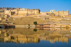 Palace of the Amber Fort near Jaipur Royalty Free Stock Images