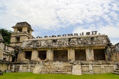 The palace of ancient Mayan city Palenque Stock Images