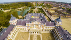Palace Aranjuez, residence of King of Spain. Aerial photo of Palace Aranjuez, residence of King of Spain. No logos or trademarks Royalty Free Stock Image