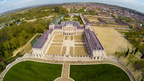 Palace Aranjuez, residence of King of Spain. Aerial photo of Palace Aranjuez, residence of King of Spain. No logos or trademarks Royalty Free Stock Images