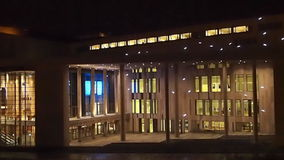 Palace of Arts and National Theatre stock video footage