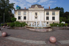 Palace of the Arts at Szczepanski Square in Krakow Stock Images