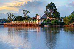 Palace Astana at sunset in Kuching Stock Image